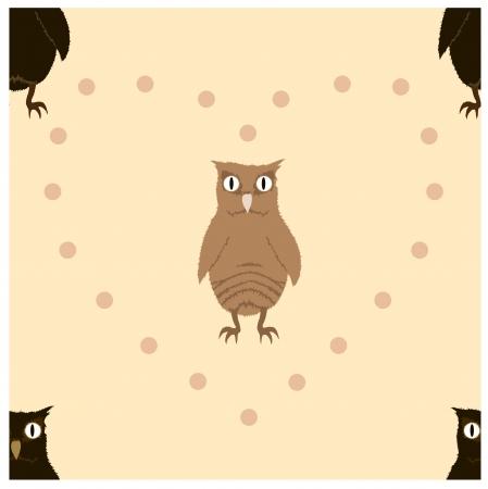 owlet: Brown owlet sin patr�n Vectores