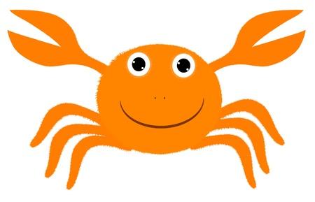 buoyant: Amusing cheerful stylized orange crab.