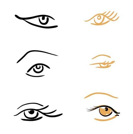 eye sketches  Laconic rapid strokes