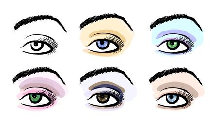 Make up stylized pattern sketches set Illustration