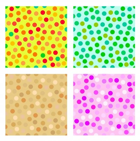 Colorful dotted seamless pattern set  Stock Vector - 14540680