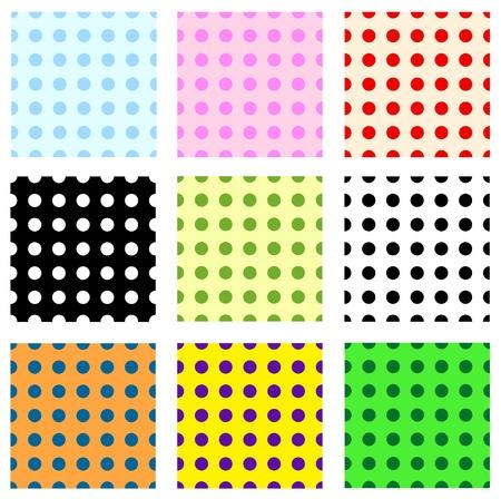dappled: Eps 10 vector dotted seamless pattern set Illustration