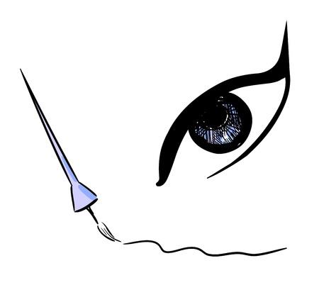 eyeliner: eyeliner design illustration