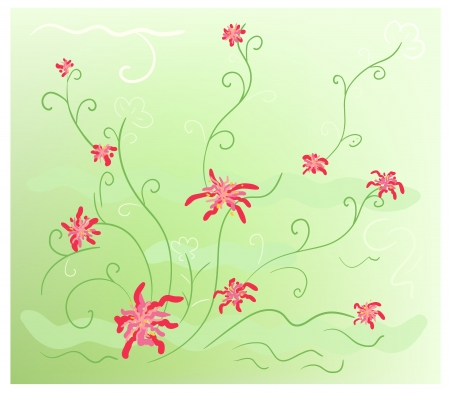 colorful stylized vector background with floral decorations Stock Vector - 15202119