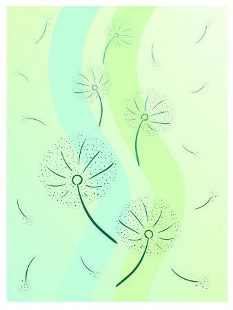 colorful vector illustration of grey dandelion Stock Vector - 15202120