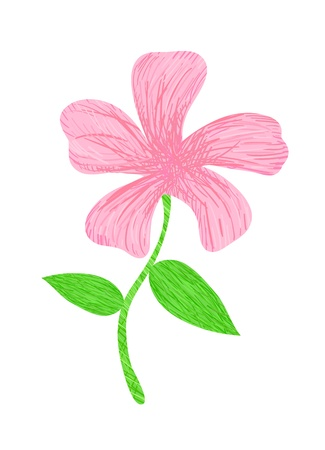 colorful vector stylized flower filled with hatching