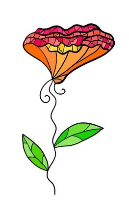 Eps 10 colorful decorative contrast flower  Fancy stylization Stock Vector - 15518749