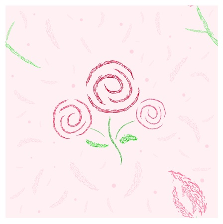 Stylized roses and tulip seamless pattern in delicate rosy colors Stock Vector - 16662849