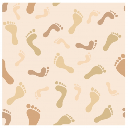 foot imprint seamless pattern  Brown and beige tints