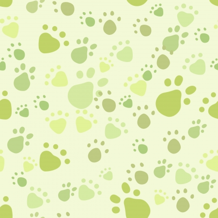 seamless pattern with pet legs' imprint Stock Vector - 16710462