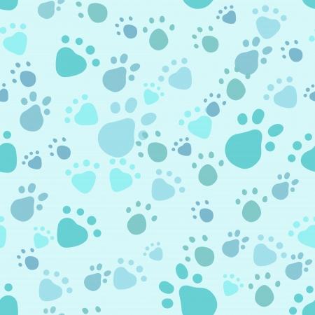 ペット足の出版社とのシームレスなパターン  イラスト・ベクター素材