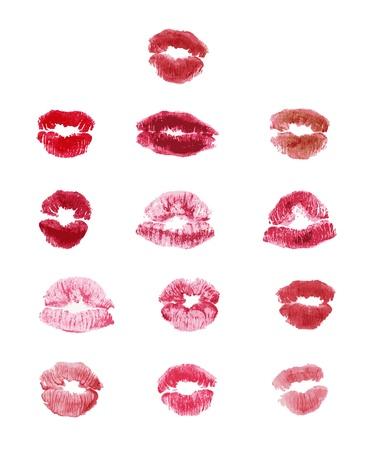 impress: labbra colorate stilizzate impressionare impostare