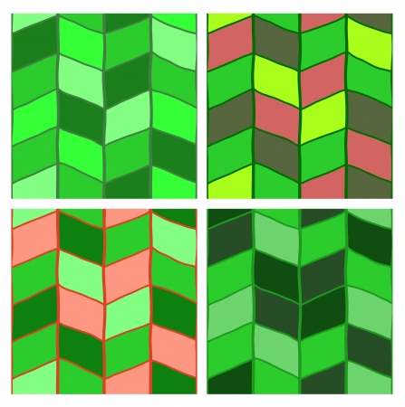 Fancy seamless pattern set  Resembles knitted linen Stock Vector - 16707522
