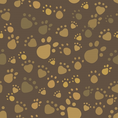 Brown vintage pet legs imprint seamless pattern Vector