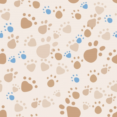 wandering: seamless pattern with pet legs Illustration