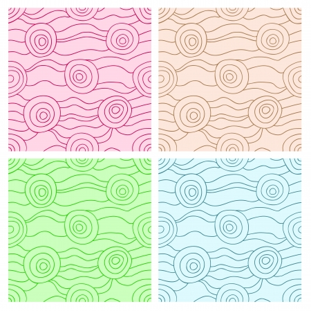 Set of fancy abstract seamless patterns Vector