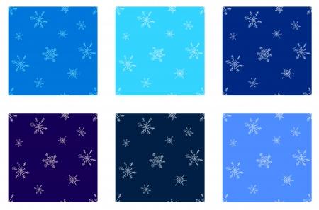 winter snowflakes seamless pattern set Stock Vector - 16710512