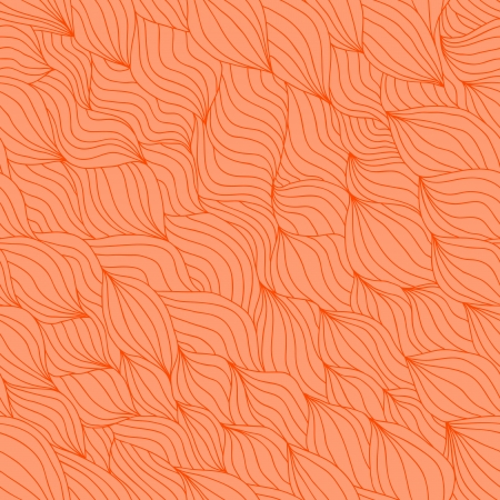 Artistic wavy hand drawn seamless pattern for your design  Saffron yellow variant Vector