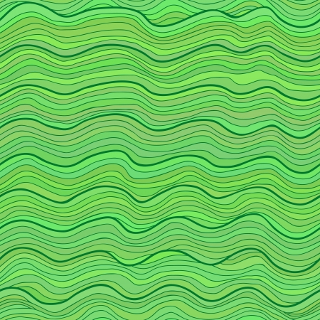 semless pattern  Abstract waves  water or wood grain  of different tints  Green variant Vector
