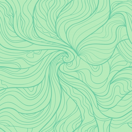 Abstract seamless pattern. Fancy wavy doodle from central part to edge.  Vector