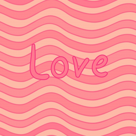 striped wavy seamless pattern with the Love inscription for yoyr Valentine design Vector