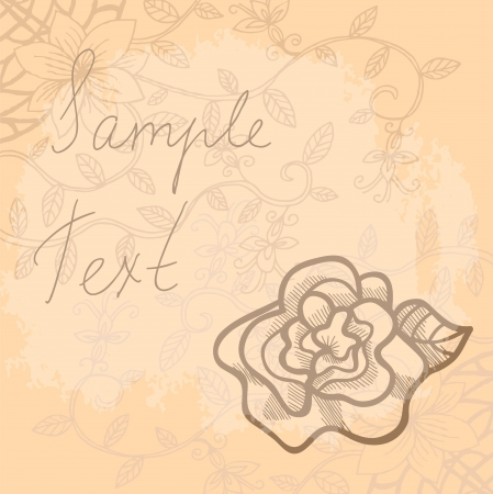 Beautiful floral background with a place for yor text Stock Vector - 16939265
