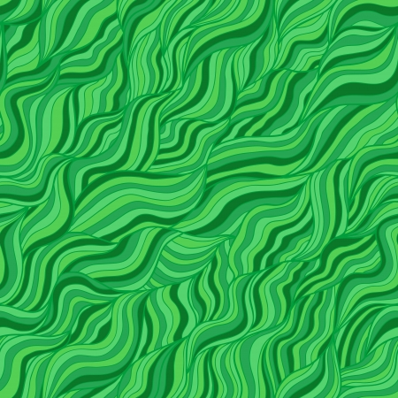 vitrage: Artistic wavy hand drawn seamless pattern for your design  Green and yellow variant Illustration