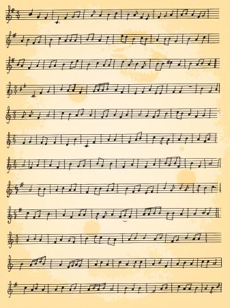 artistic musical background Illustration