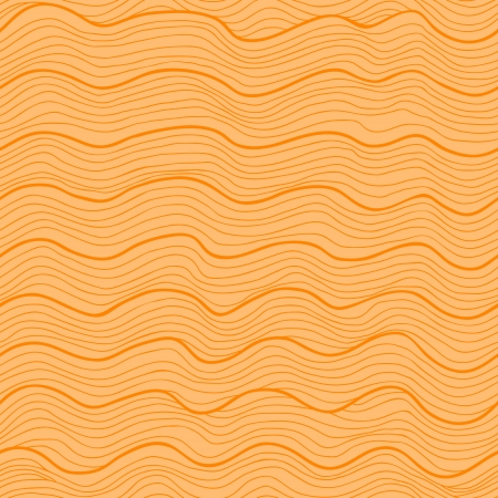 semless pattern. Abstract waves (water or wood grain). Sunny orange variant. Vector