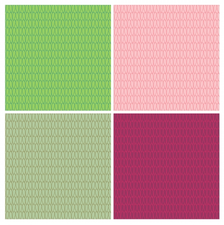 abstract seamless pattern set. Resembles knitting linen or grainy mosaic surface Vector