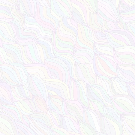 Artistic wavy hand drawn seamless pattern for your design. Pearly pastel variant Stock Vector - 16939153