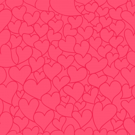 valentine seamless pattern with stylized artistic hand drawn hearts. Stock Vector - 16938986