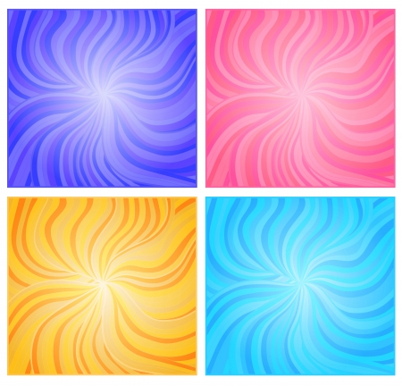 centralized:  background set. Wavy strokes from the centre to the corners of illustration
