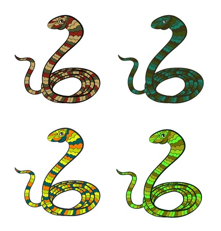 Set of stylized snakes - symbol of year 2013 Stock Vector - 16939245