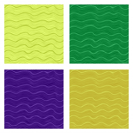 semless pattern set  Abstract waves  water or wood grain  Stock Vector - 16939182