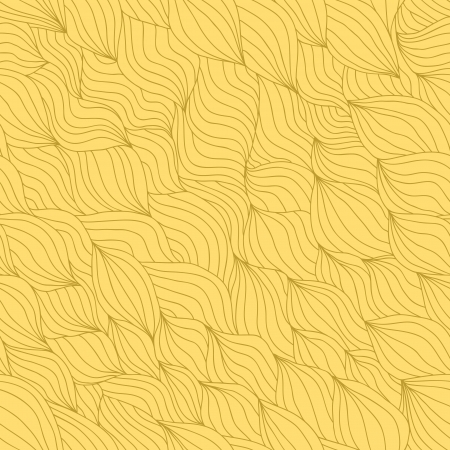 Artistic wavy hand drawn seamless pattern for your design  Sandy yellow variant Vector