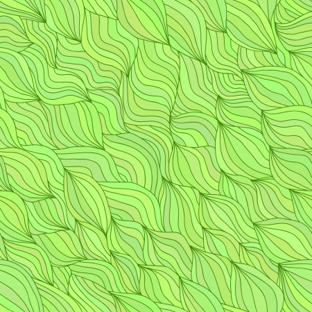 Artistic wavy hand drawn seamless pattern for your design  Colorful green variant Stock Vector - 16939185