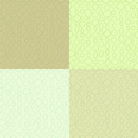 unequal: Abstract shapes seamless pattern set