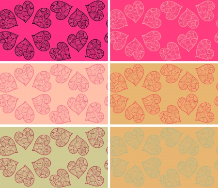 Set of Valentine seamless patterns Vector