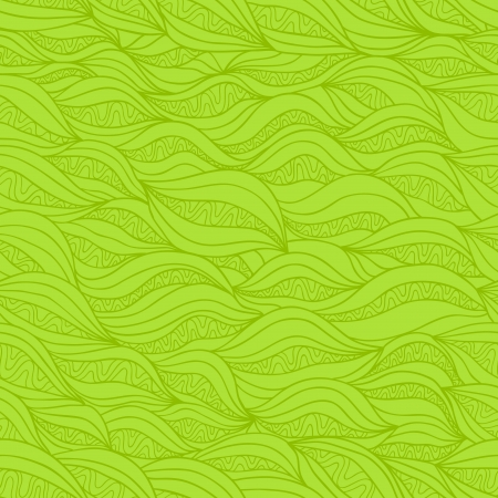 pleasant: Abstract seamless pattern with horizontal stylized decorative fiber. Pleasant green variant Illustration