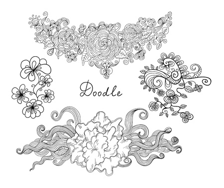 doodles set Vector