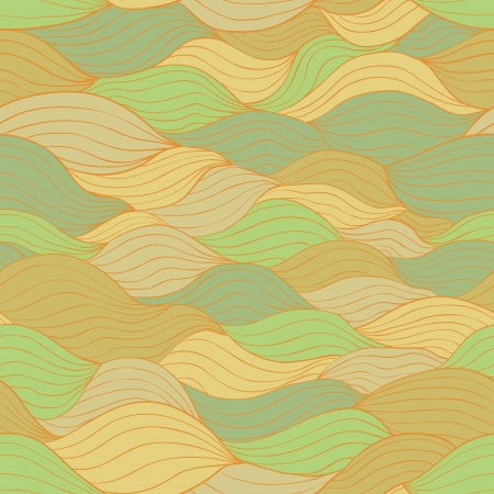 stripped: Abstract seamless pattern with horizontal fiber. Retro warm colors Illustration