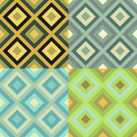 Abstract geometrical seamless pattern set Vector