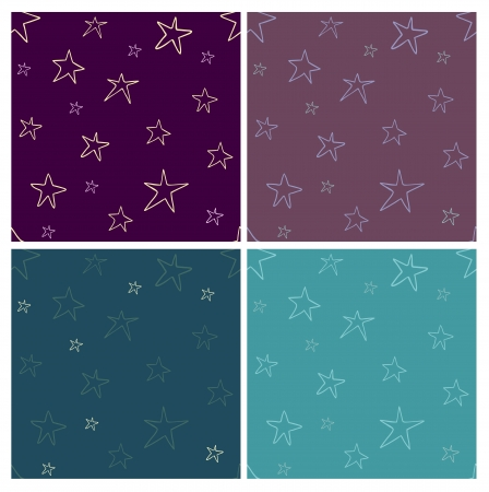 seamless pattern with bright stylized stars Stock Vector - 18640364