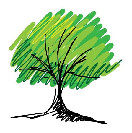 Szkic drzewo Wektor Ilustracje wektorowe