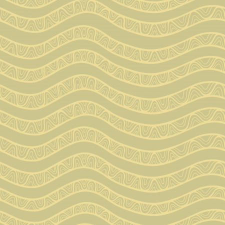 tints: Artistic vector seamless pattern set with waves and spiral elements. Vintage beige tints Illustration