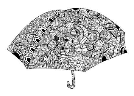 vitrage: Black and white umbrella Illustration