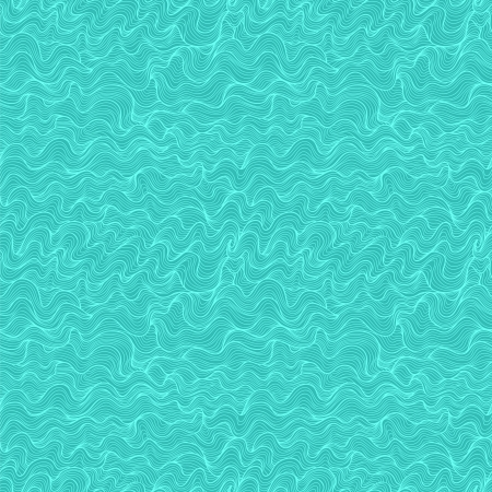 whirpool: Abstract wavy marine seamless pattern, aquamarine blue variant. Illustration