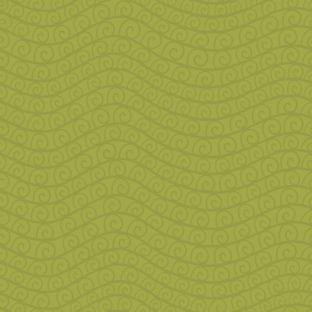 tints: seamless pattern set with waves and spiral elements. Vintage green tints. Illustration