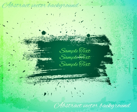 tints: Artistic abstract banner. Light green, aquamarine and blue tints Illustration